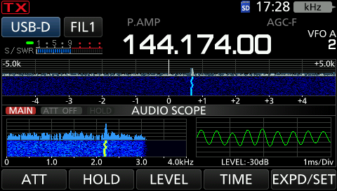Empfangenes FT-8 Signal