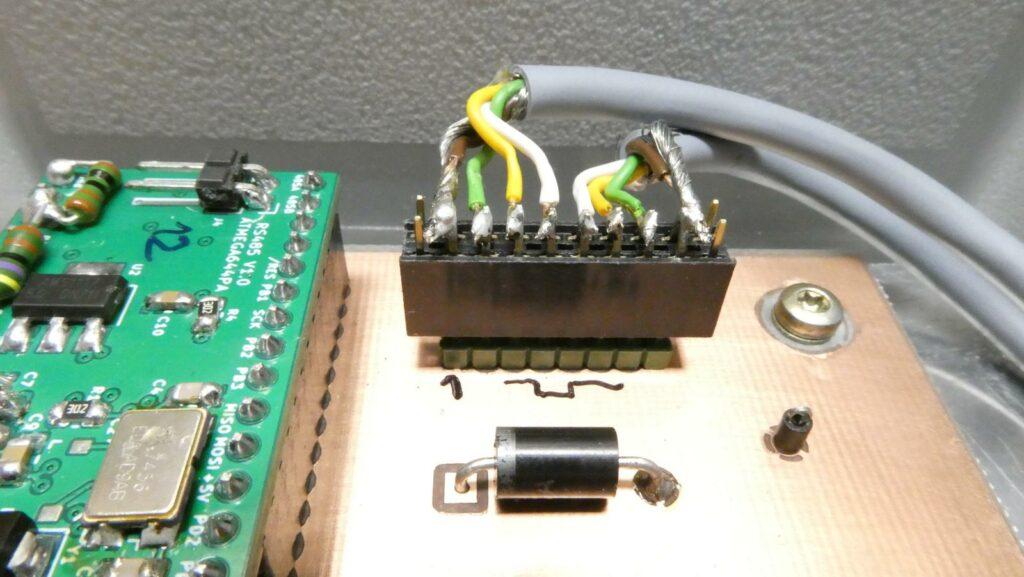 Neue Verkabelung der RS-485-Schnittstelle